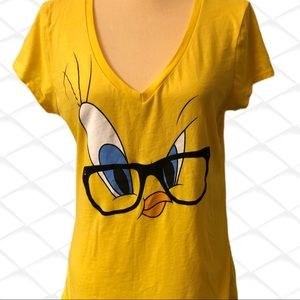 Looney tunes yellow T-shirt with tweety bird!